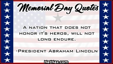 memorial day quote abraham lincoln
