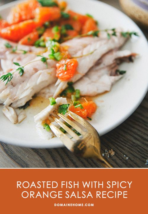 Roasted Sea Bass with Spicy Orange Salsa Recipe