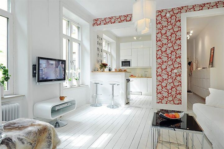 Small But Cute Apartment White Floors Pinterest