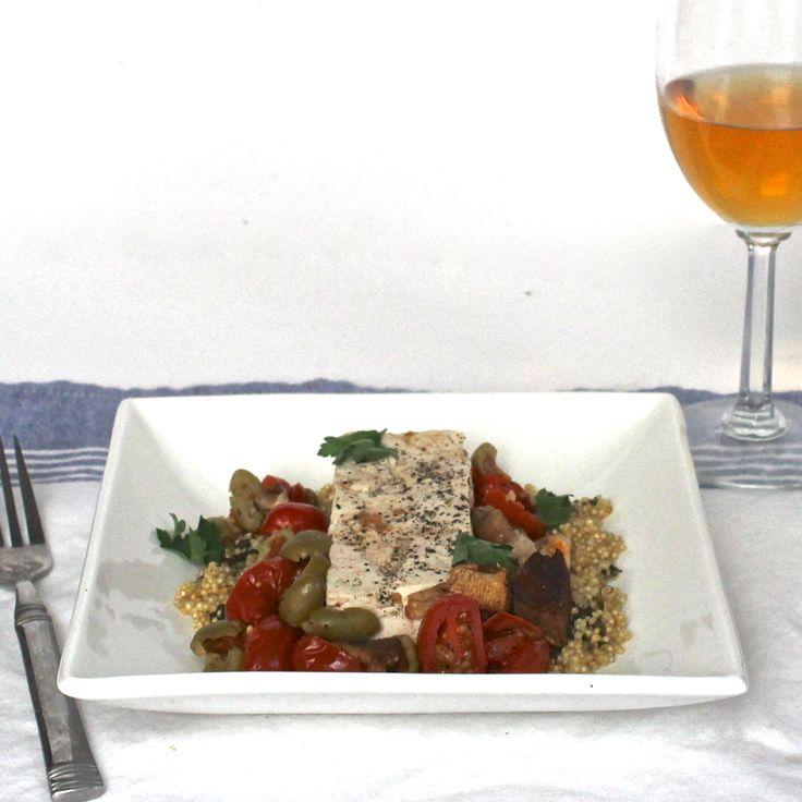 Tomato & Olive Tofu En Papillote | vegan main dishes | Pinterest