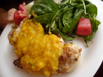 THE CANDID RD: Butternut Squash Sauce Served Over Spice-Rubbed Grilled ...