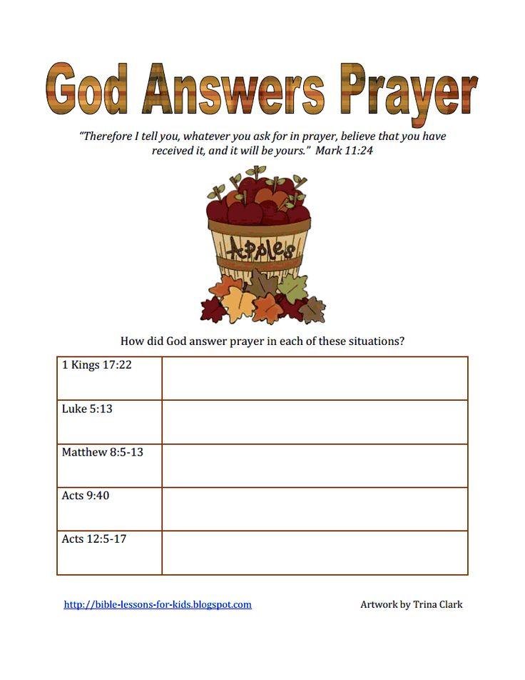 God Answers Prayerpdf