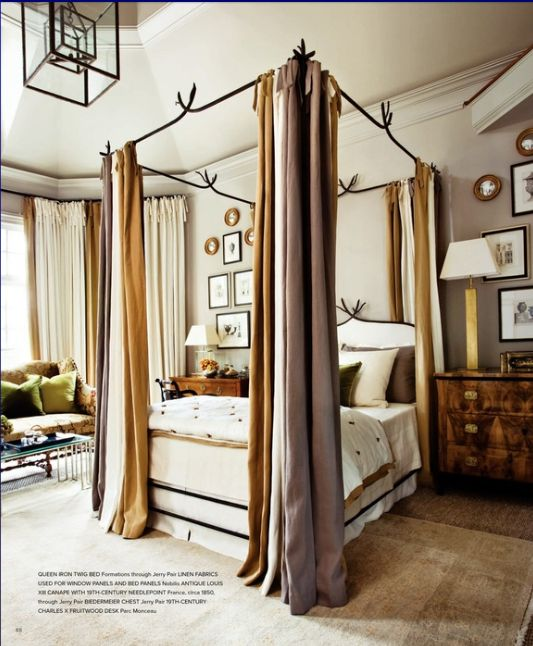 SMITTEN BY: WARM GRAY + BRASS | BluLabel Bungalow | Interior Design Advice and Inspiration    Love this bed!