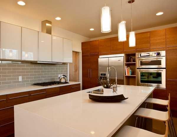 Warm contemporary kitchen designs dream house pinterest for Warm kitchen designs