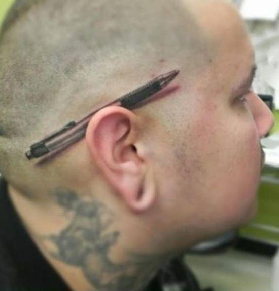 3D Pencil Tattoo