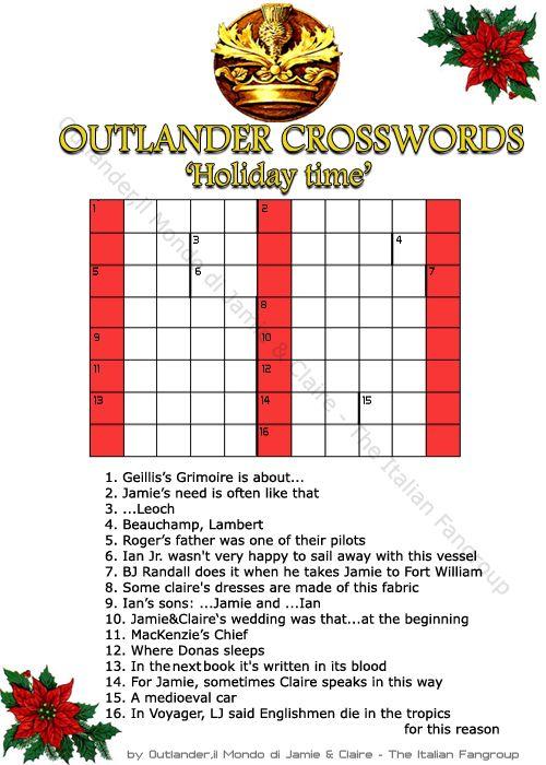 Outlander CrossWords | A Sassenach & Her Highlander | Pinterest