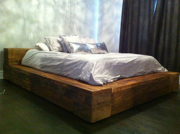 Lit King Bois De Grange : Lit en bois Ideas for the House Pinterest