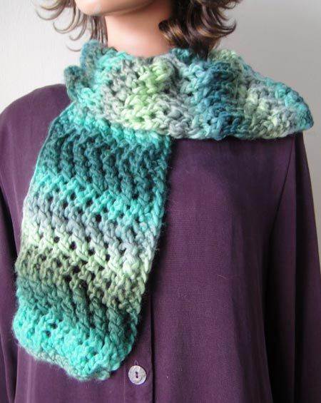 Lace Zig Zag Scarf Knitting Pattern Yarn Love- Knitting ...