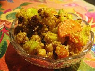 Quinoa with Roasted Cauliflower and Sautéed Veggies   Queen of Quinoa ...