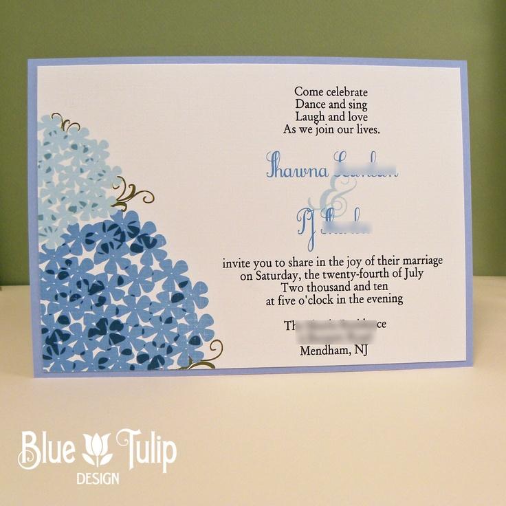 hydrangea wedding invitation via etsy wedding ideas pinterest