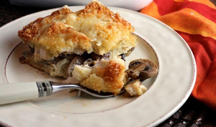 Turkey and Mushroom Bread Pudding | I Cook | Pinterest