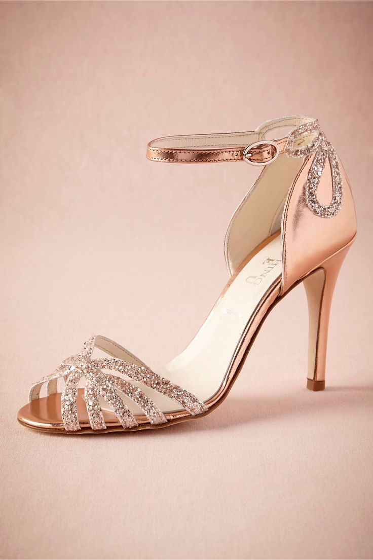 rose gold glittered heels from bhldn dream closet pinterest. Black Bedroom Furniture Sets. Home Design Ideas