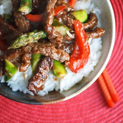 Beef and Asparagus Stir Fry | dinner ideas | Pinterest