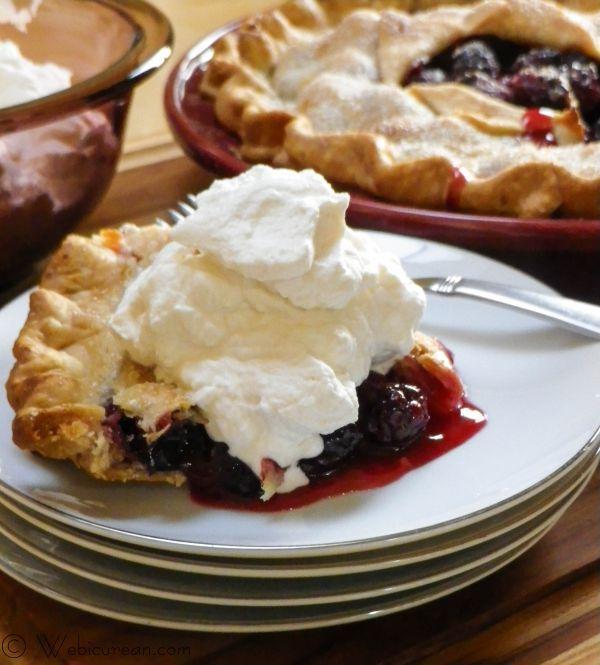 Blackberry Pie with Brandied Whipped Cream #SundaySupper