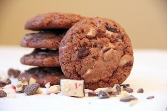 Chocolate Peppermint Bark Cookies | Cookies | Pinterest