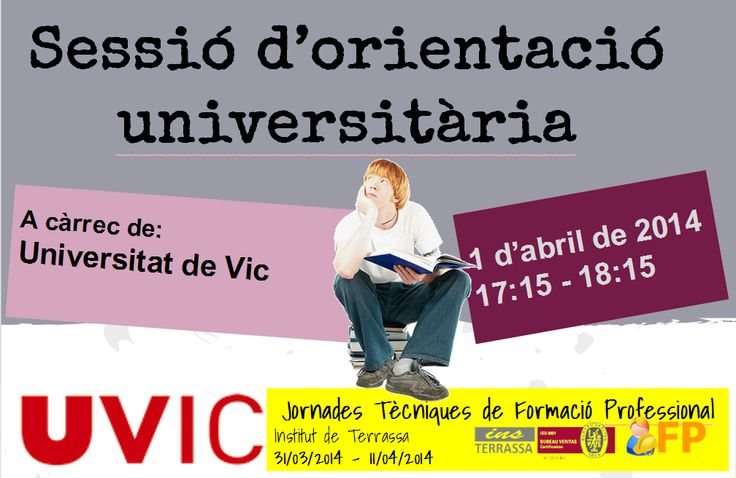 Sessió d'orientació universitària Universitat de Vic