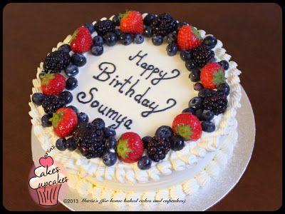 Cake Decorated With Fruits Pinterest : Fruit cake decorations Cakes Pinterest