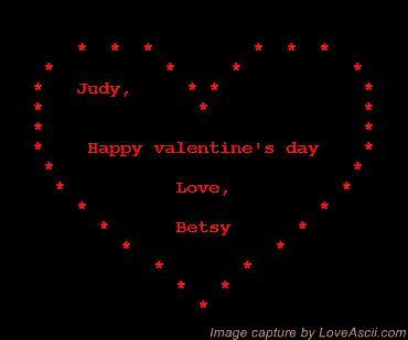 happy valentine ascii