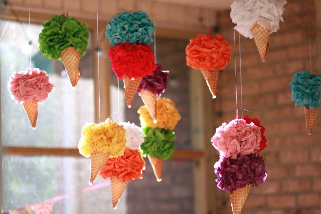 how to make ice cream cones with tissue paper