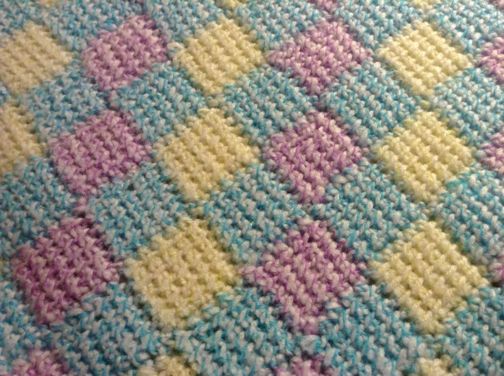 Crochet Entrelac : Entrelac, Tunisian crochet Projects to Try Pinterest