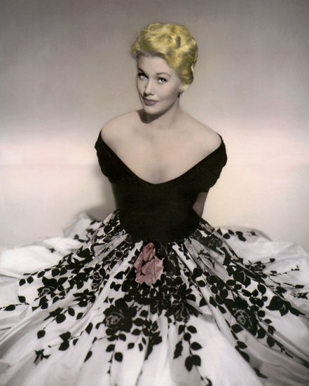 "Kim Novak costumed by Jean Louis for ""Phffft,"" 1954. 8x10 Hand Color Tinted"