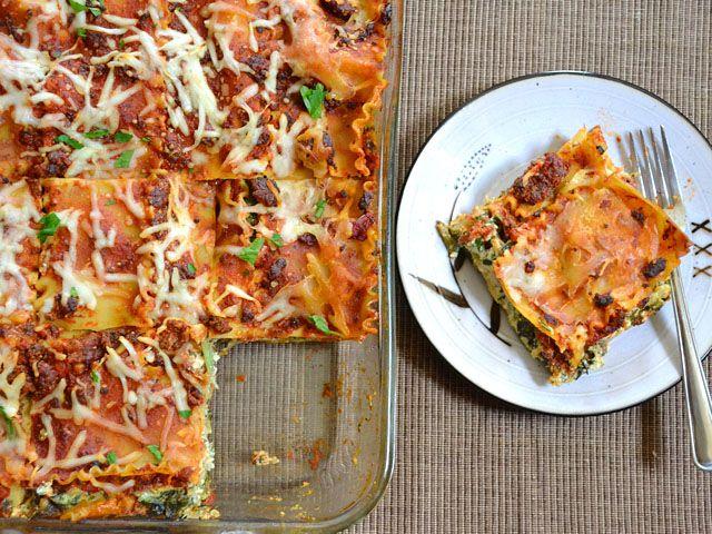 Spinach and Artichoke Lasagna...sounds delicious!