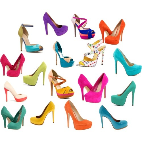 Colored heels