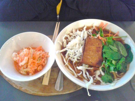 ... noodle ramen bowl with kimchi side   Vegan Kitchen Magic: Soup's