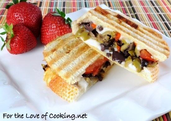 Tapenade, Mozzarella, and Tomato Panini | Sandwich Ideas | Pinterest