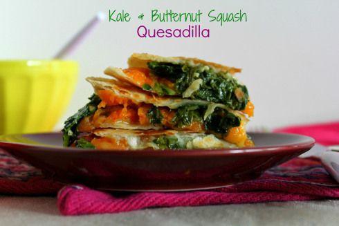 Kale & Butternut Squash Quesadilla | Favorite Dinner Ideas | Pinterest