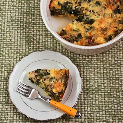 Kalyn's Kitchen®: Recipe for Swiss Chard and Goat Cheese Custard Bake