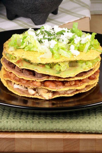 Mexican Chunk Beef Tostada | FOOD :) | Pinterest