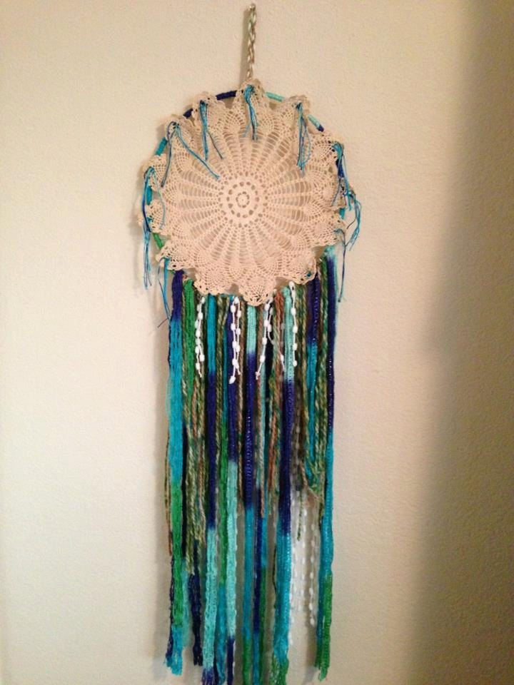 Evening Bloom Crochet Dreamcatcher / Dream Catcher. $35.00, via Etsy.