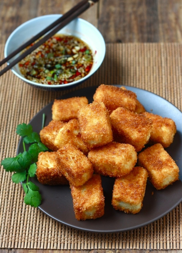 ... sauce shallot marinated tofu with miso dipping sauce sesame asian tofu