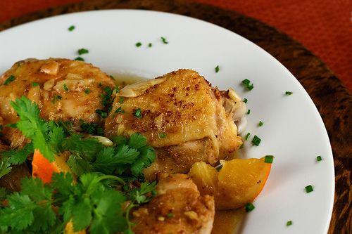 Ginger, Coriander & Orange Braised Chicken | Steamy Kitchen Recipes