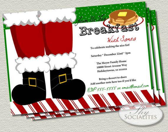 Christmas Santa Claus Feet Printable Invitations   Christmas Party, G ...
