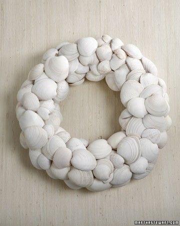 summer crafts wreath shells