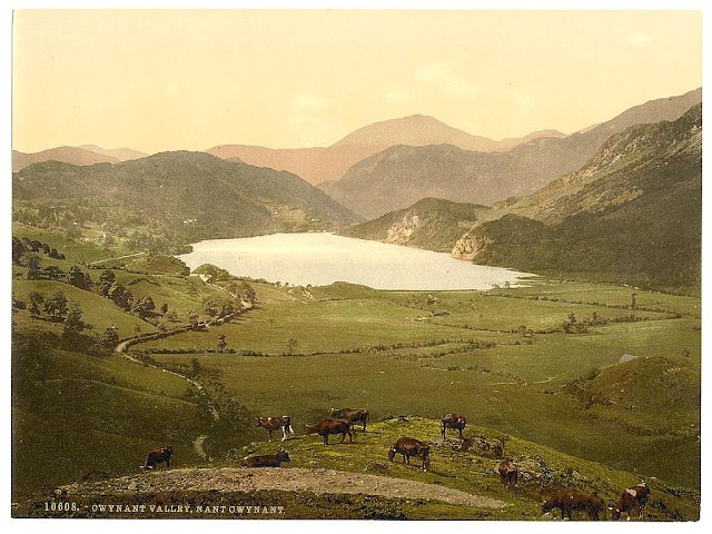 Nant Gwgant, Gwynant Valley, Wales - Picture produced using the Photochrom system - 1890s