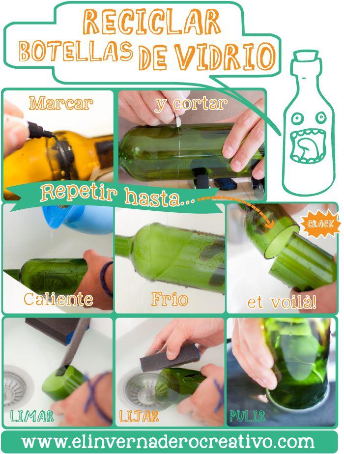 Pin by amparo acosta on reciclaje pinterest - Como cortar botellas de vidrio ...