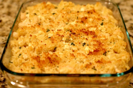 ... creamy and rich with a crunchy crumb topping. You have to try it