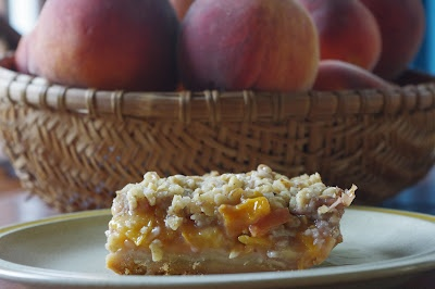Peach and pecan oat crumble bars via 4 goodness bake