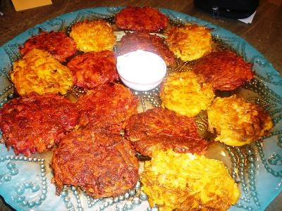 Happy Chanukah: Yam and Beet & Parsnip and Carrot Latkes (add ginger ...
