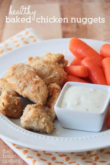 Healthy Baked Chicken Nuggets Recipe — Dishmaps