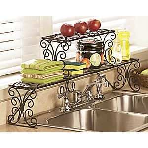 2 Tier Scrolled Over The Sink Shelf Kitchen Inspiration Pinterest