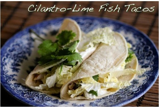 Cilantro Lime Fish Tacos | Yummy! | Pinterest