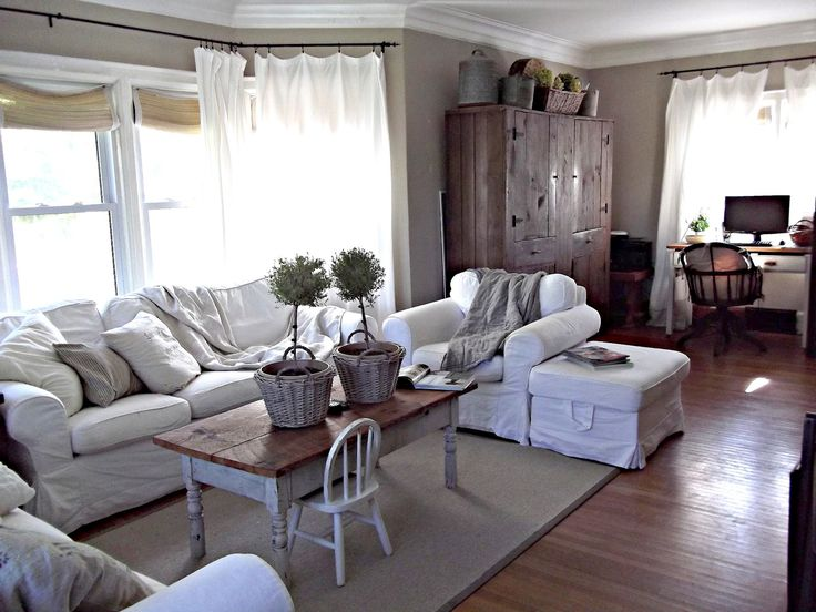 Grey living room furniture on grey family room furniture sets - Rustic Farmhouse Beautiful Living Rooms Pinterest