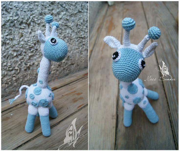 PDF Crochet Pattern Amigurumi Giraffe COMMERCIAL USE