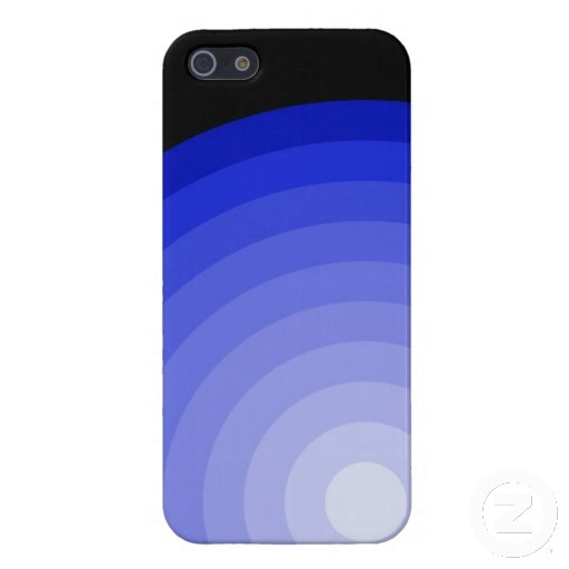 Royal Blue Target iPhone 5 Glossy Finish Case by Text Me