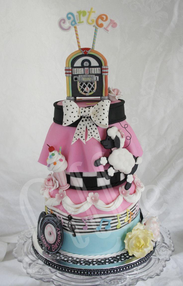 sock hop cake cake creations Pinterest