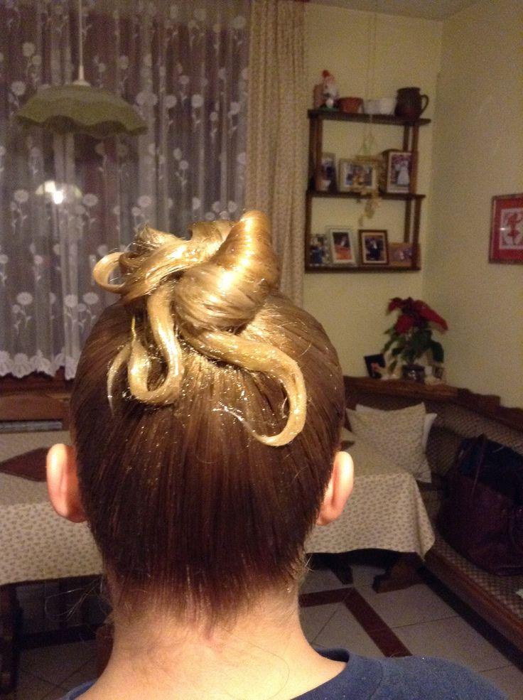banana peel hairstyle : Ballroom dance hairstyle Hair Pinterest